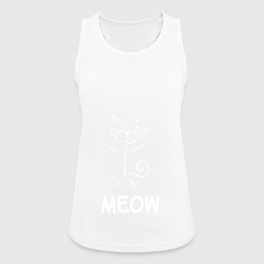 Meow cat drawing line drawing - Women's Breathable Tank Top