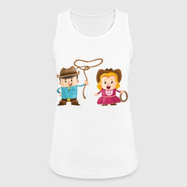 Cowboy with girl - Women's Breathable Tank Top