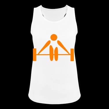 Weights Lift Orange Weightlifter - Women's Breathable Tank Top
