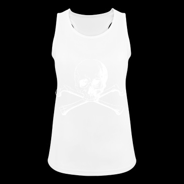 Skull with crossbones - Women's Breathable Tank Top