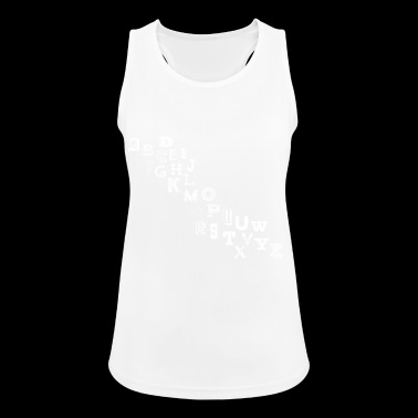 Alphabet Letters - Women's Breathable Tank Top