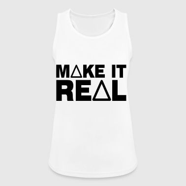 MAKE IT REAL - motivation, ambition and success - Women's Breathable Tank Top