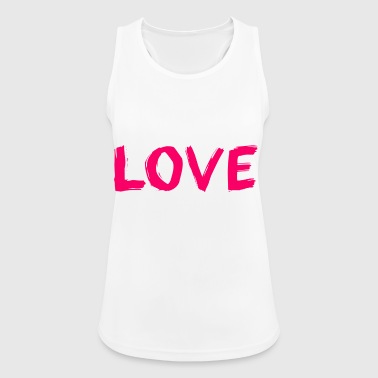 The word love - Women's Breathable Tank Top
