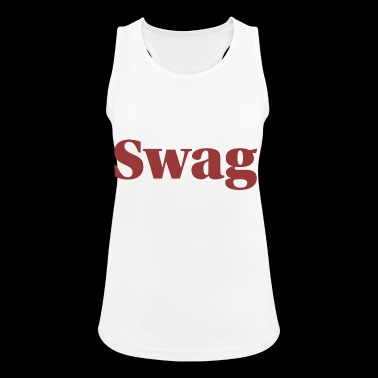 Bold Swag font for stylish streetwear - Women's Breathable Tank Top