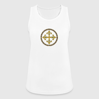 Celtic Goldkreuz - Frauen Tank Top atmungsaktiv