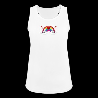Rainbow and Unicorn - Women's Breathable Tank Top