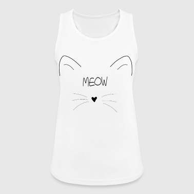 Cat ears muzzle face gift idea - Women's Breathable Tank Top
