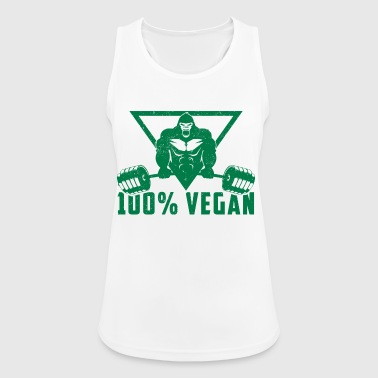 100% Vegan AF Muscle Gorilla Gift - Women's Breathable Tank Top
