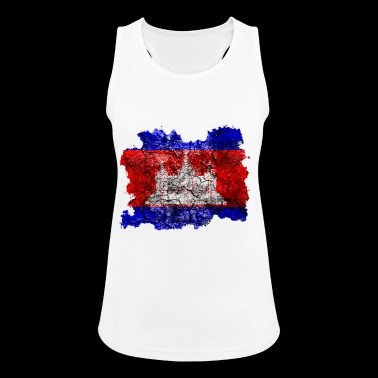 Cambodia vintage flag - Women's Breathable Tank Top