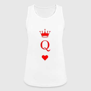 Card game heart queen - Women's Breathable Tank Top