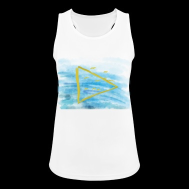 Birds fly over water - Women's Breathable Tank Top