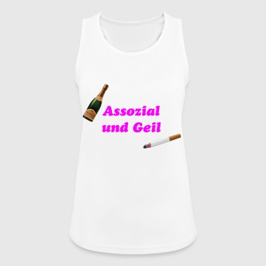 Associal and horny - Women's Breathable Tank Top