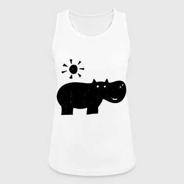 Hippo drawing - Women's Breathable Tank Top