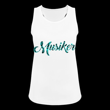 Musician Patterned Pattern Music Love - Women's Breathable Tank Top