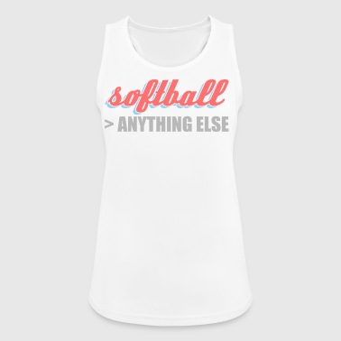 better than anything else softball - Women's Breathable Tank Top