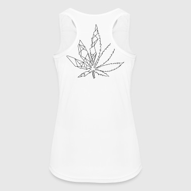 Stylized cannabis leaf - Women's Breathable Tank Top