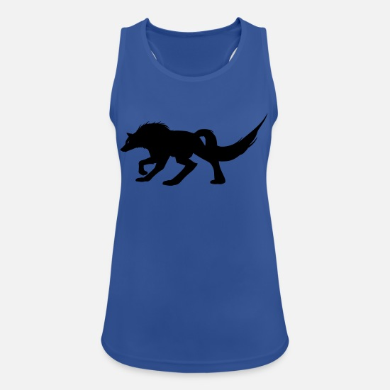 Gift Tanktops - Wolf, roofdier - Vrouwen sport tank top royal blauw