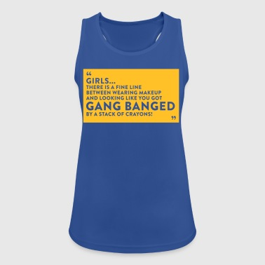 Gangbanged By A Stack Of Crayons - Women's Breathable Tank Top