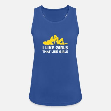 Run Like A Girl I Like Girls Who Like Girls! - Women's Breathable Tank Top