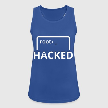 Hacket Hacker Nerd Admin-programvaren Linux Windows - Pustende singlet for kvinner