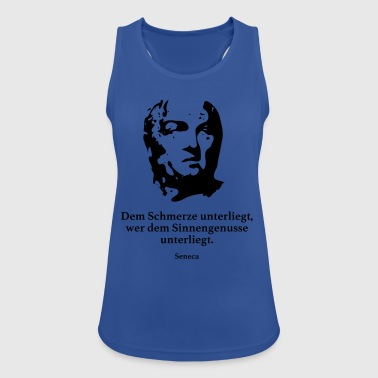Seneca: The pain is subdued by the pain - Women's Breathable Tank Top