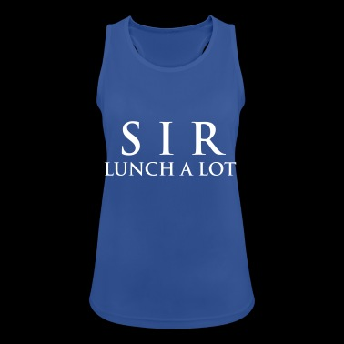 SIR LUNCH A LOT - Women's Breathable Tank Top