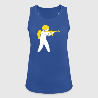 A Soldier Aims His Rifle - Women's Breathable Tank Top