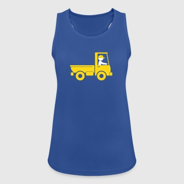 A Pickup Truck Drives To A Warehouse - Women's Breathable Tank Top