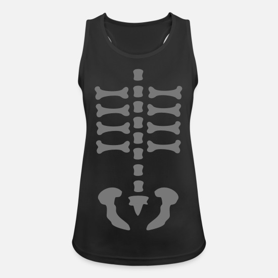 Magic Tank Tops - skeleton / rips / bones / Body / human / c / can - Women's Sport Tank Top black