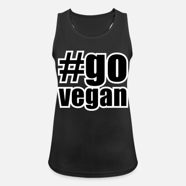 Govegan hashtag #govegan - Women's Sport Tank Top