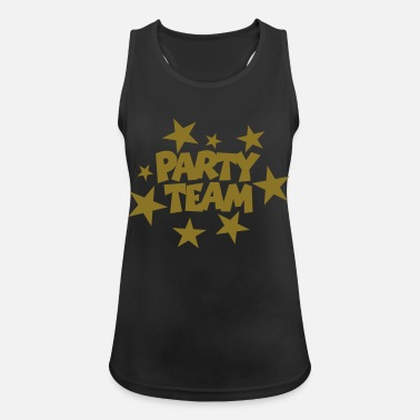 Beachparty Party Team Stars Gold (IT) - Canotta sportiva donna