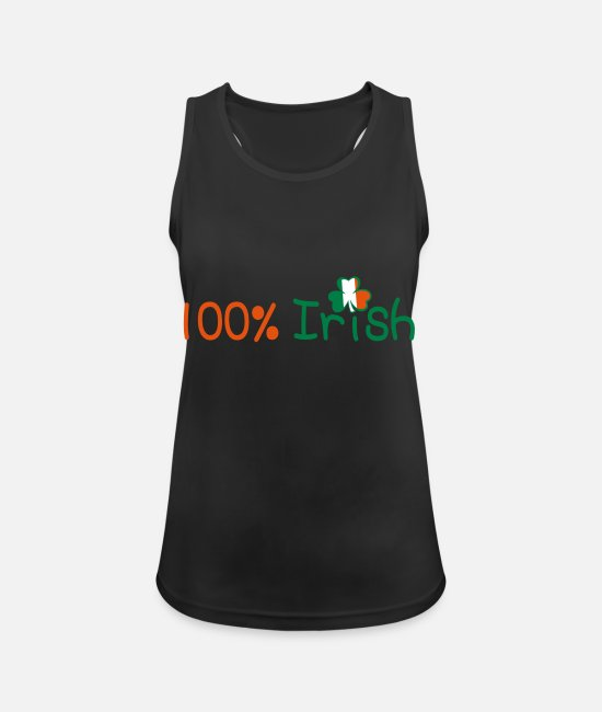 I Want To Marry Irish I Want To Have A Irish Girlfriend Irish Boyfriend Irish Husband Irish Wife Iri Tank Tops - ♥ټ☘Kiss Me I'm 100% Irish-Irish Rule☘ټ♥ - Women's Sport Tank Top black