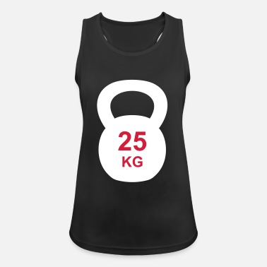 Training Kettlebell 25 kg Training - Frauen Tank Top atmungsaktiv