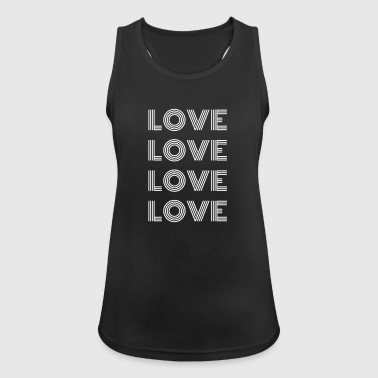 Lovely Love Love Love Love - Women's Breathable Tank Top