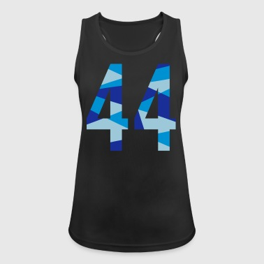 44 – Zahl im Polygon-Design - Frauen Tank Top atmungsaktiv