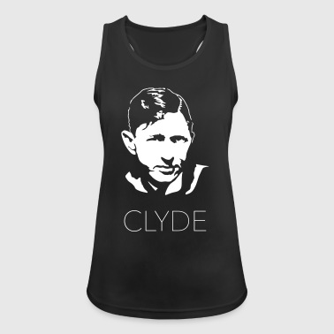 Clyde with text - Women's Breathable Tank Top