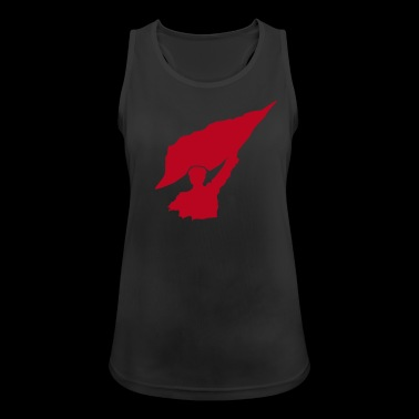 Flag rebel flag icon - Women's Breathable Tank Top