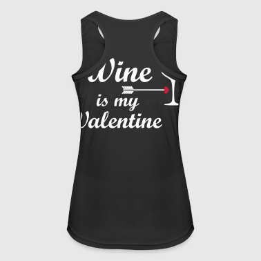 wine is my valentine - Women's Breathable Tank Top