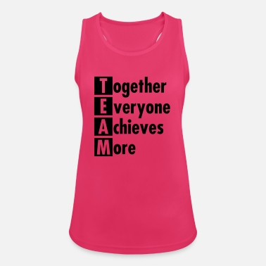 Sports TEAM - Together Everyone Achieves More - Women's Sport Tank Top