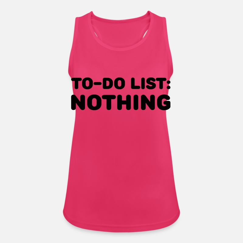 Chill Tanktops - To-Do List: Nothing - Vrouwen sport tank top fuchsia