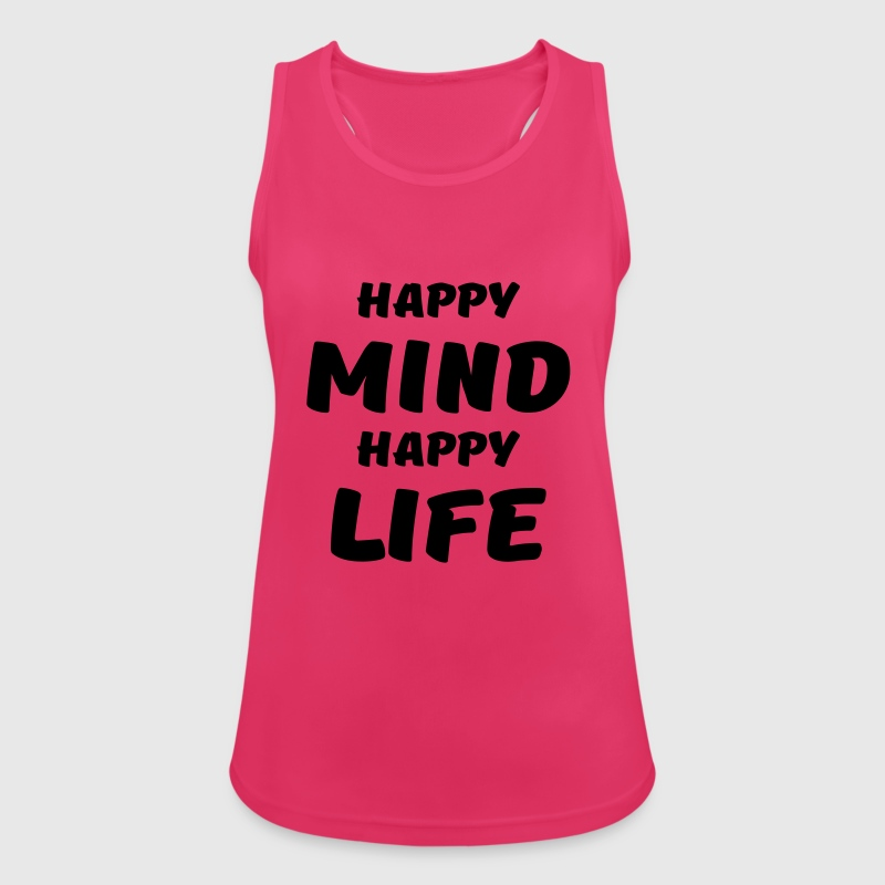 Happy mind, happy life - Women's Breathable Tank Top