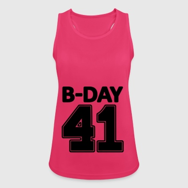 Number 41 years 41st birthday number number numbers - Women's Breathable Tank Top