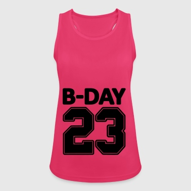 23rd birthday bday 23 number numbers jersey number - Women's Breathable Tank Top