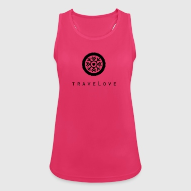TraveLove black imprint - Women's Breathable Tank Top
