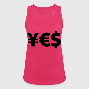 YES Yen Euro Dollar I love Money Money Wealth - Women's Breathable Tank Top