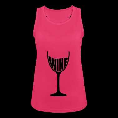 Wine glass wine wine glass wine red wine vine - Women's Breathable Tank Top
