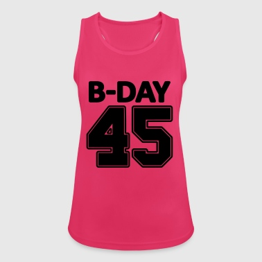 45th Birthday / Numbers Number Number Number 45 - Women's Breathable Tank Top