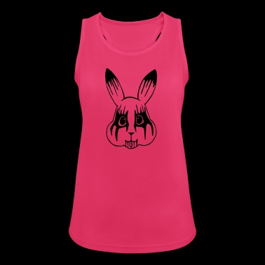 Black Metal Bunny - Women's Breathable Tank Top