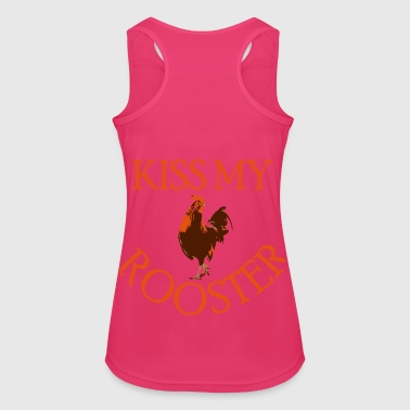 Kiss My Rooster - Women's Breathable Tank Top