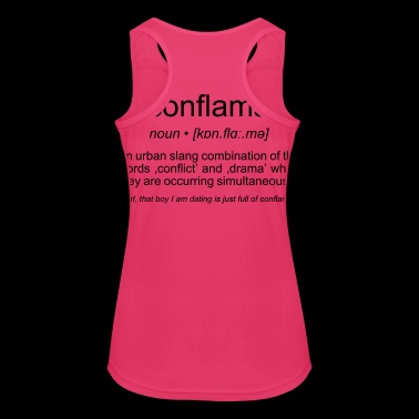 conflama, american slang for conflict and drama - Women's Breathable Tank Top